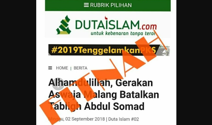 """Netizen Bongkar Media Fitnah """"Duta Islam"""" Soal Pembatalan Ustadz Abul Somad, Duh.. Duta Islam Apa Duta Kafir Sih?"""