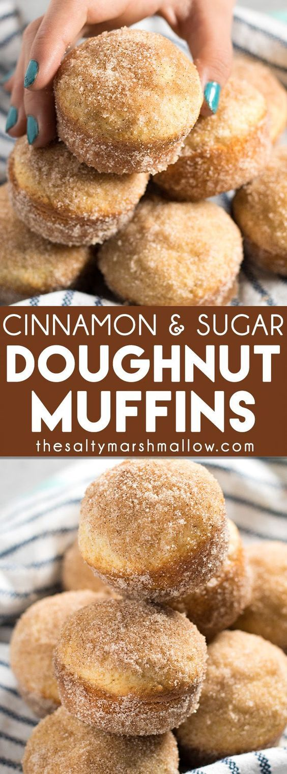innamon Sugar Donut Muffins - Donut muffins are a super soft, homemade muffins that are easy to make!  These buttery treats taste just like an old fashioned donut rolled in cinnamon and sugar!