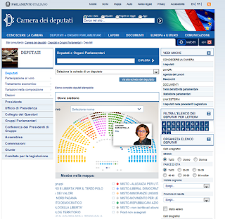 Una lavagnata al giorno infografiche interattive il for Dove si riunisce il parlamento italiano