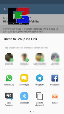 cara share dan mengajak teman di sosial media denga link grup telegram