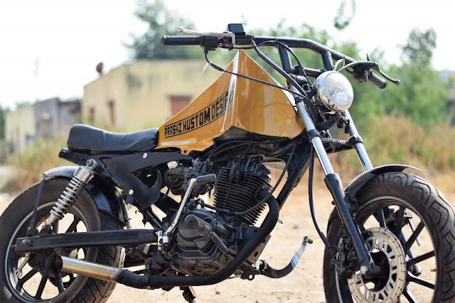 Modified Hero Honda CBZ by Prashz Custom Design