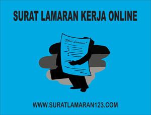 Contoh Surat Lamaran Kerja Online