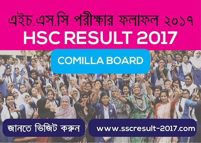 HSC Result 2017 Comilla Board.