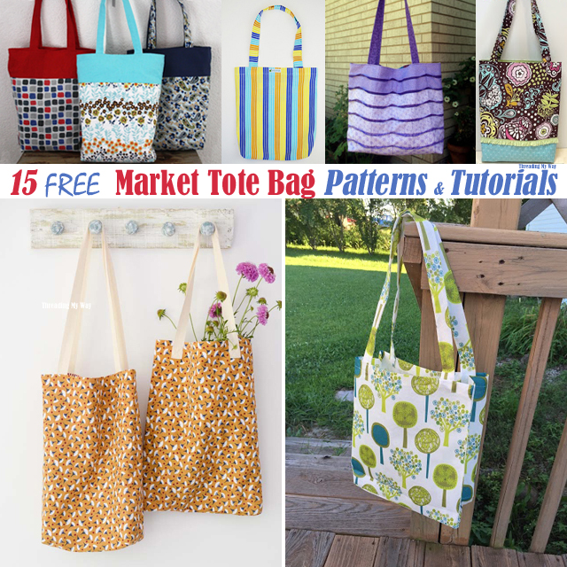 Free Reusable Ping Bag Market Tote Grocery Patterns Tutorials Threading My