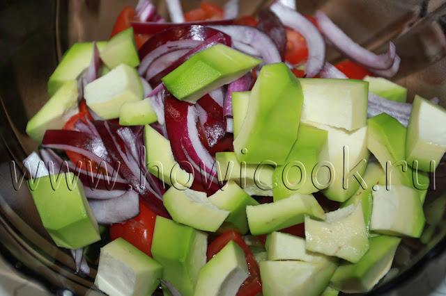 рецепт салата с авокадо и сыром фета с пошаговыми фото