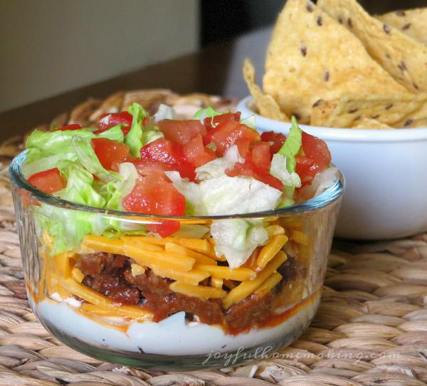 Taco Dip from Joyful Homemaking