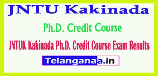 JNTUK Kakinada Ph.D. Credit Course Exam Results 2018