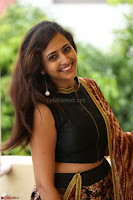 Lasya looks super cute in black choli Saree at Raja Meru Keka Press Meet ~  Exclusive 013.JPG