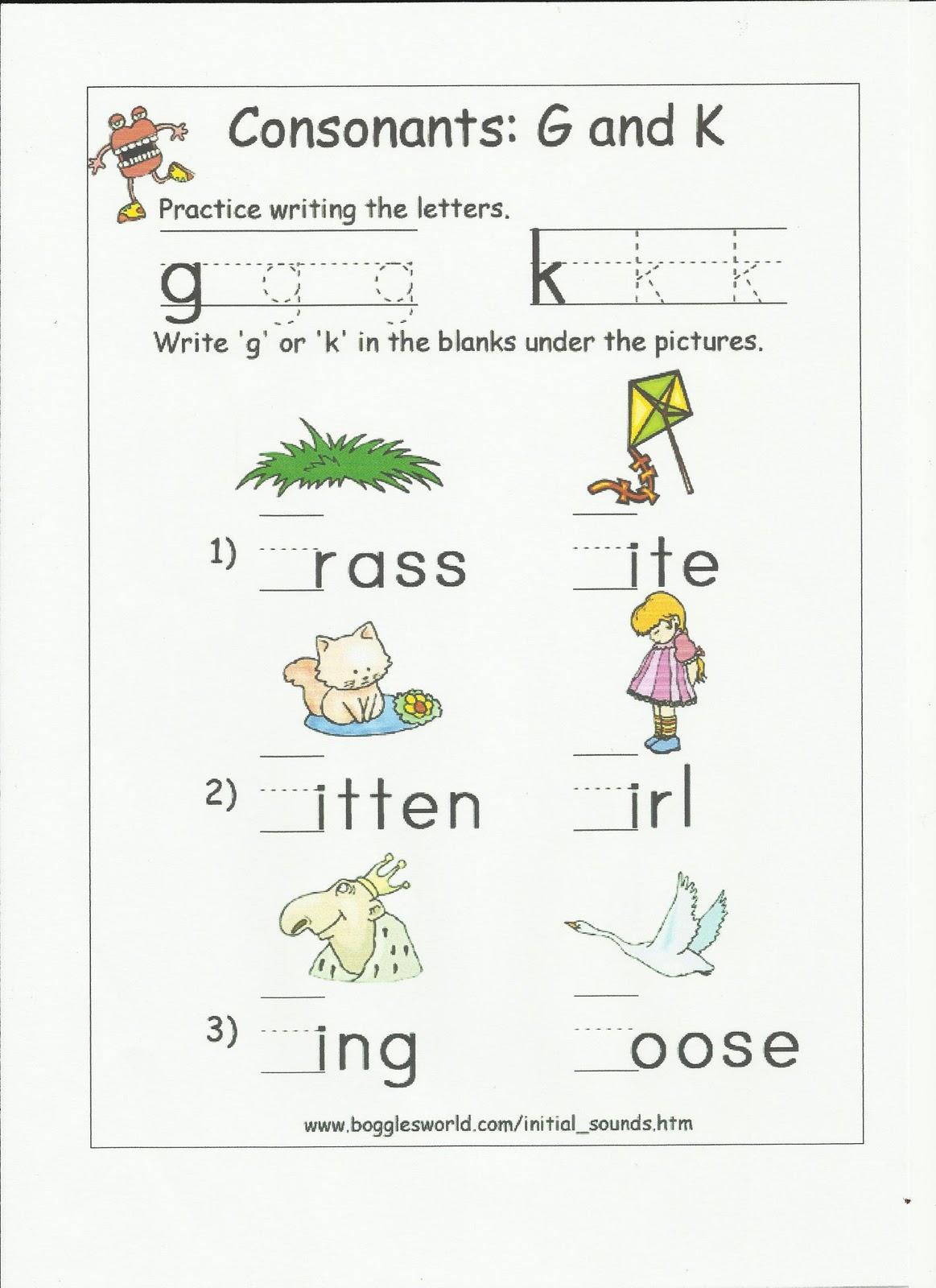 Cuit Cuit Bahasa Alphabet Worksheets Consonant Contrasts