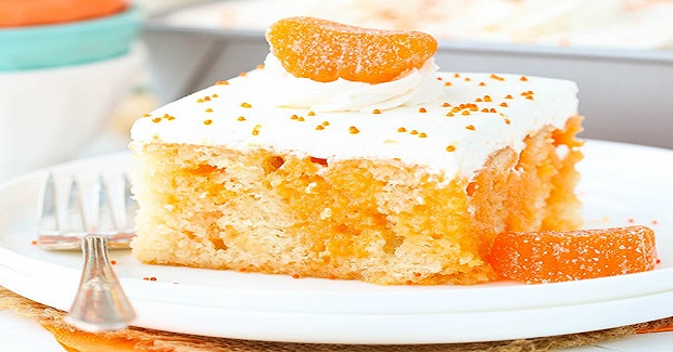 Orange Creamsicle Poke Cake Recipe