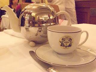 Tea in Mariage Freres, Ginza.