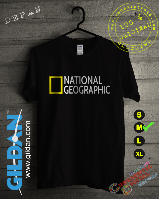 Baju Kaos National Geographic Warna Hitam