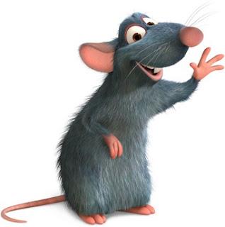 Dibujo de la rata Ratatouille para niños