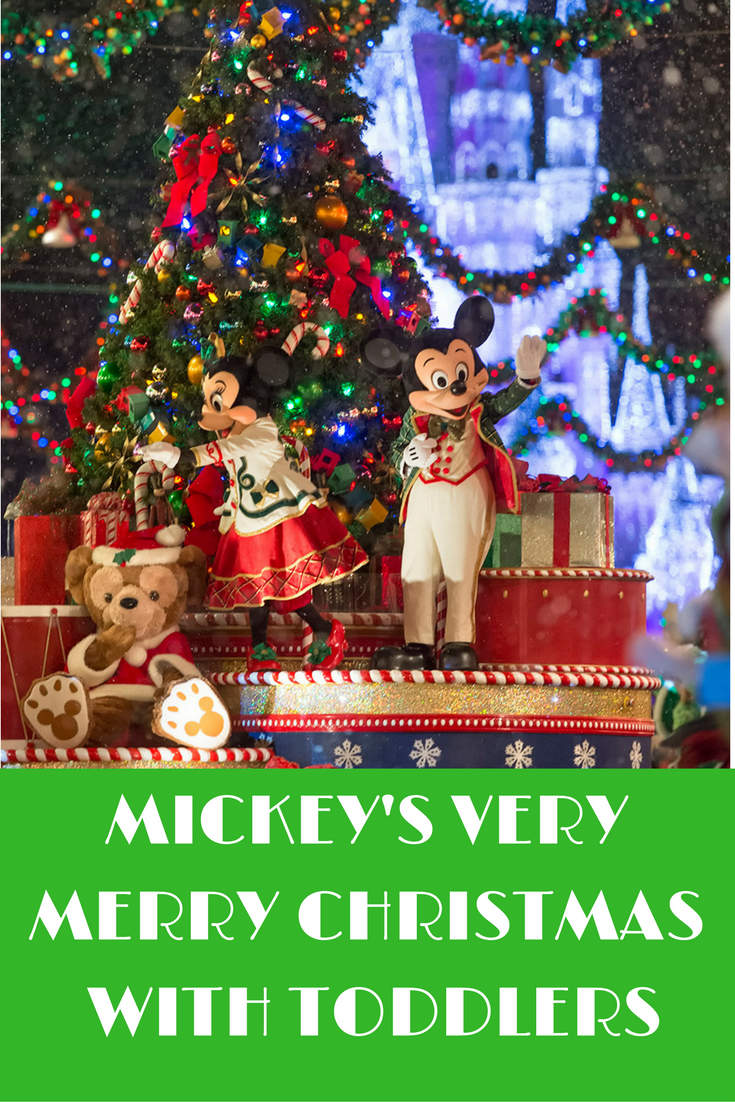 tips for attending mickeys very merry christmas party with toddlers - Mickeys Christmas