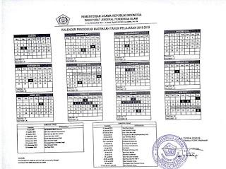 Kementerian Agama Republik Indonesia telah mengeluarkan  Kalender Pendidikan Madrasah Tahun Pelajaran 2018/2019