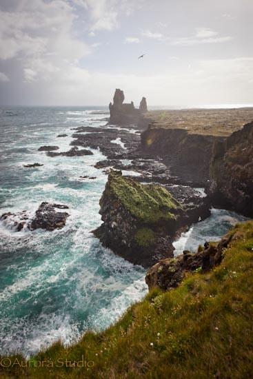 アイスランド、スナイフェルネース半島の風景。ロゥンドランガル。