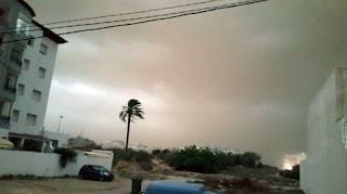 عاصفة في مدينة سوسة.. (صور)