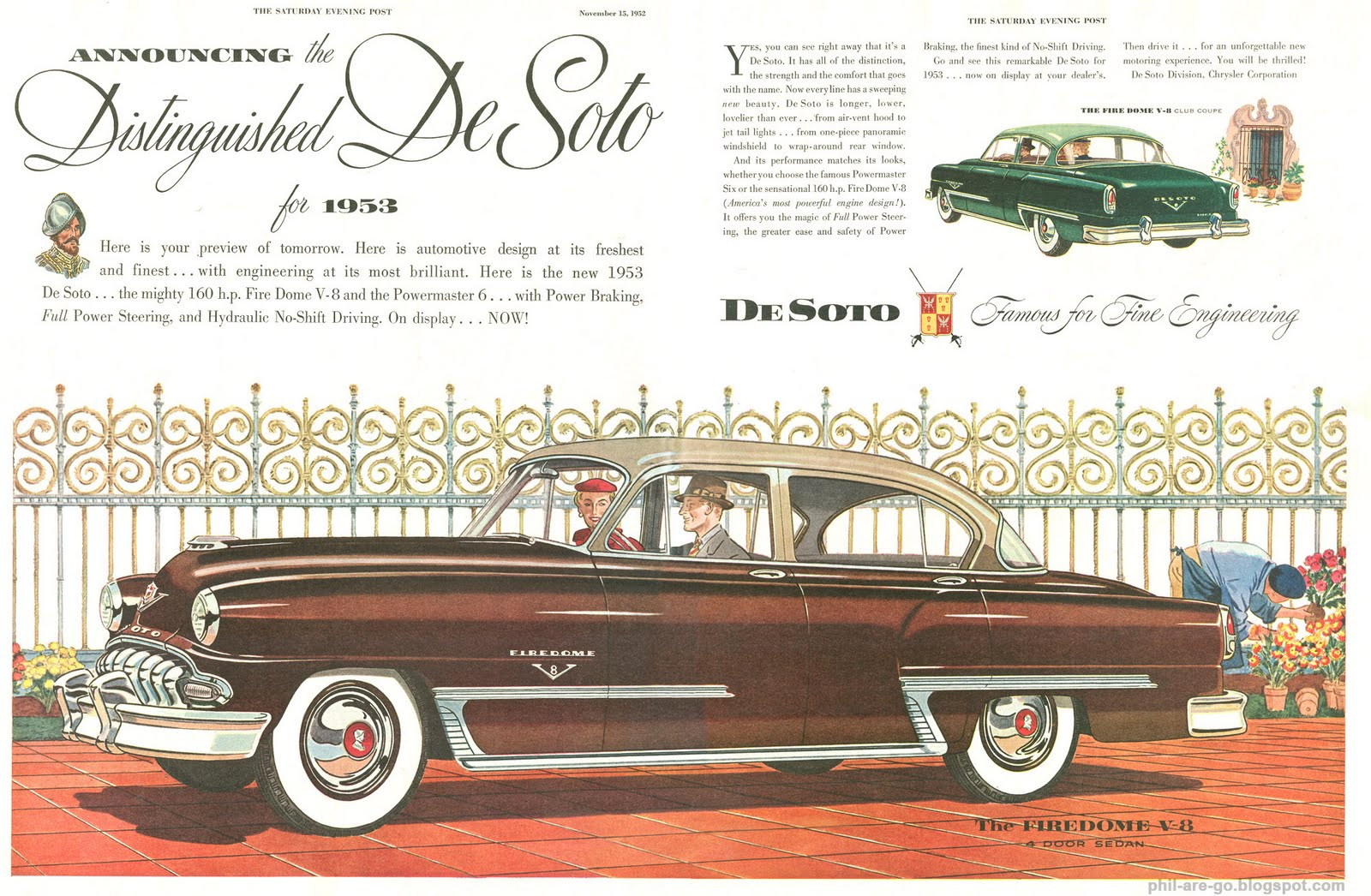Phil Are Go!: DeSoto Firedome V8 - Brown is the color of my true ...