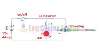 1000 degree Celsius 12v soldering iron circuit diagram