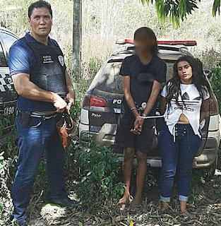 Policia de Itapecuru Mirim prende uma mulher e um menor acusado de homicídio