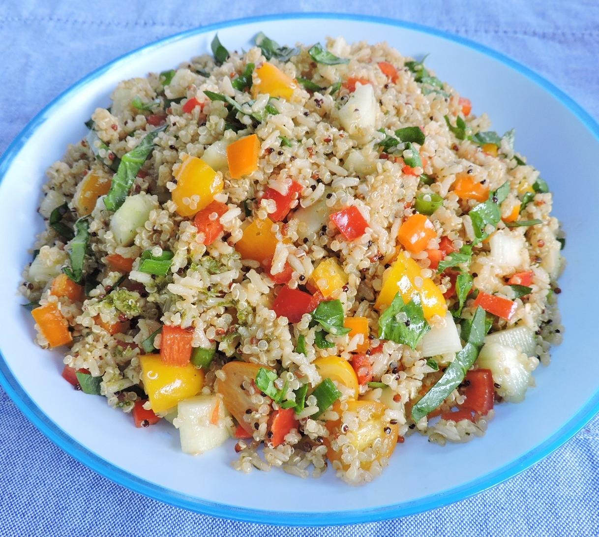 Colorful Quinoa Brown Rice Salad
