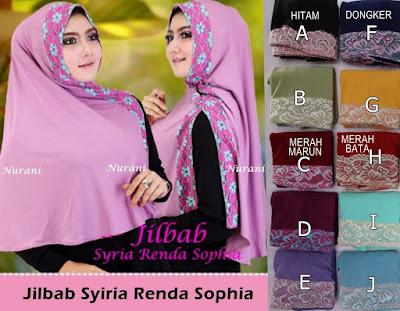 Model Jilbab terbaru Syiria Renda Sophia