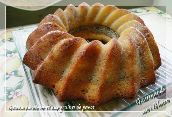 Gâteau sans gluten au citron et graines de pavot
