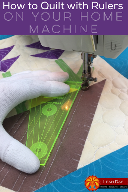 Quilting with rulers on your home machine