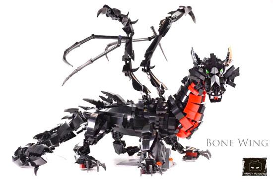 lego moc bone wing dragon by herbert lee