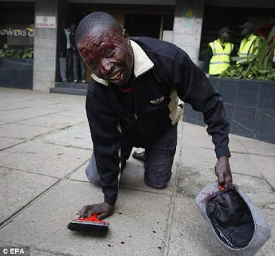 beaten and bloodied kenyan at the police attack on protesting civilians in nairobi on 16th of may 2016