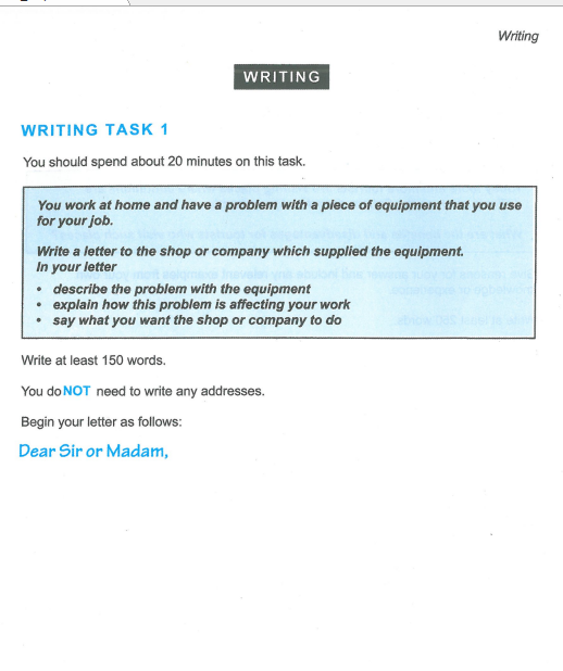 Latihan IELTS | Cambridge IELT 12 | Test 5 | Writing