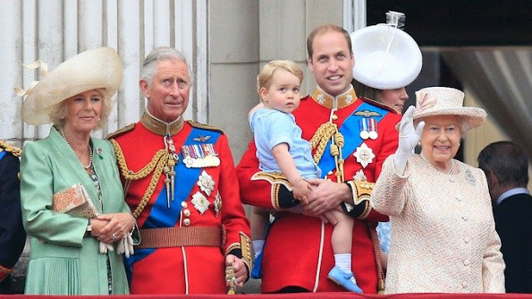 A royal tradition - George's first royal balcony appearance was in June 2015.