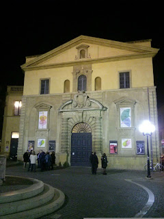 The Teatro Rossini in Pesaro, the  birthplace of the opera composer