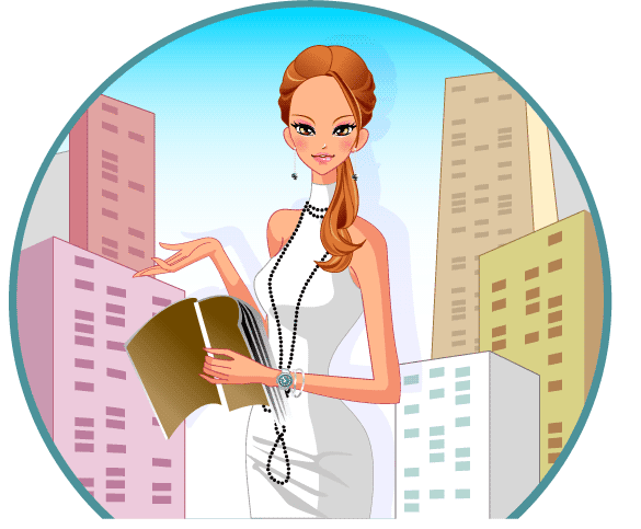 mujer trabajadora ventana vector