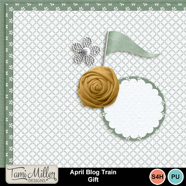 My Memories April Blog Train FREEBIES!
