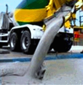 Easy discharge of flowing concrete from RMC truck