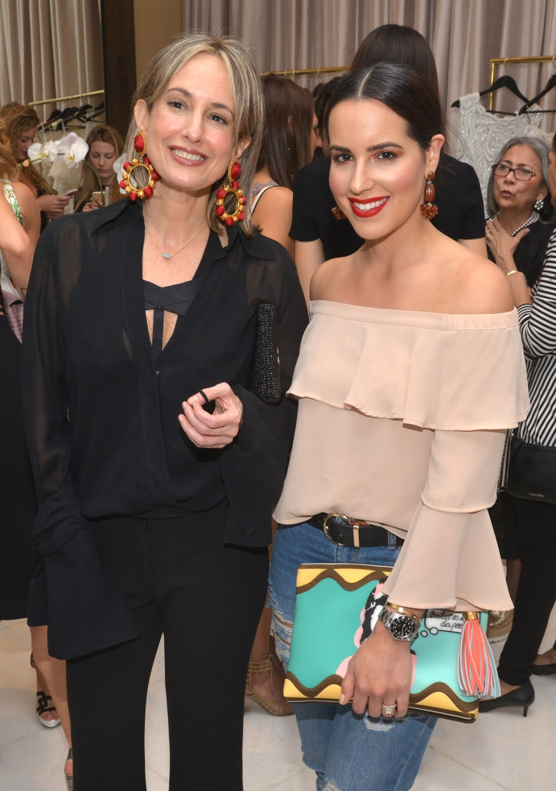Silvia Tcherassi and Fashion Blogger Kelly Saks Guerra attend grand opening of Coral Gables Atelier