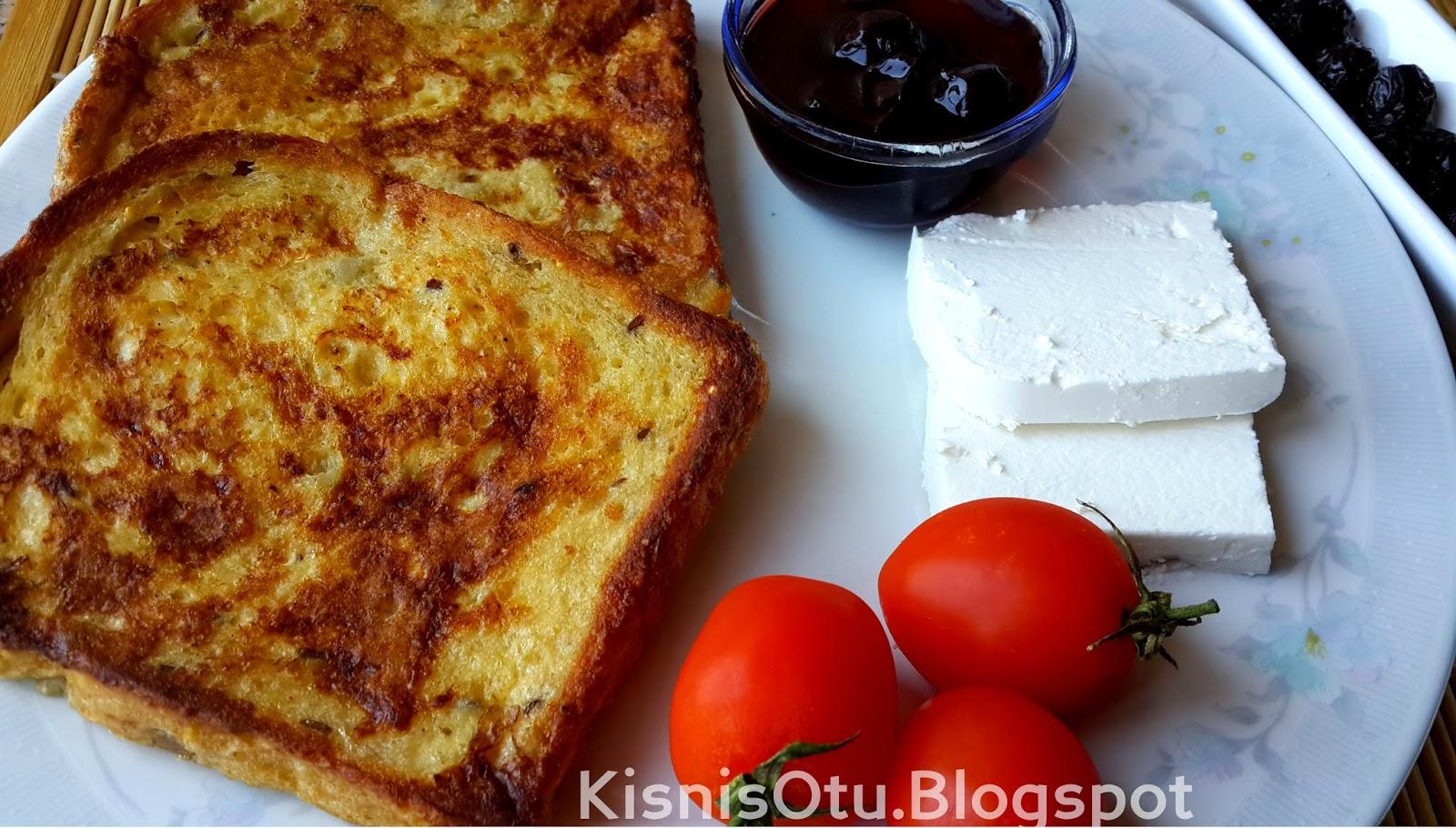 Yumurtalı ekmek tarifi, kahvaltılık tarifler, Balık ekmek, cici papa tarifi,  Kişniş Otu