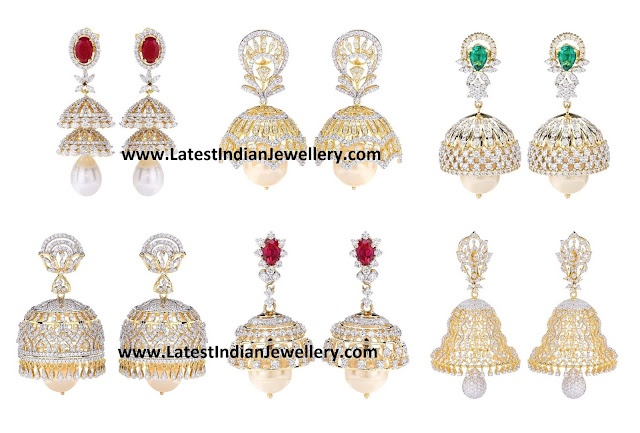 Diamond Jhumkas Collection 2016