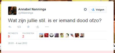 Annabel Nanninga (@ANanninga/@JaltaNL) vindt #4mei #Dodenherdenking onzin en lacht om gaskamers
