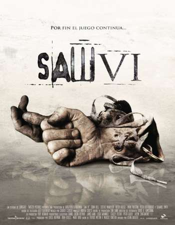 Poster Of Saw VI 2009 English 120MB BRRip HEVC Mobile ESubs Watch Online Free Download Worldfree4u