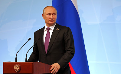 Vladimir Putin at the news conference following the G20 Summit.