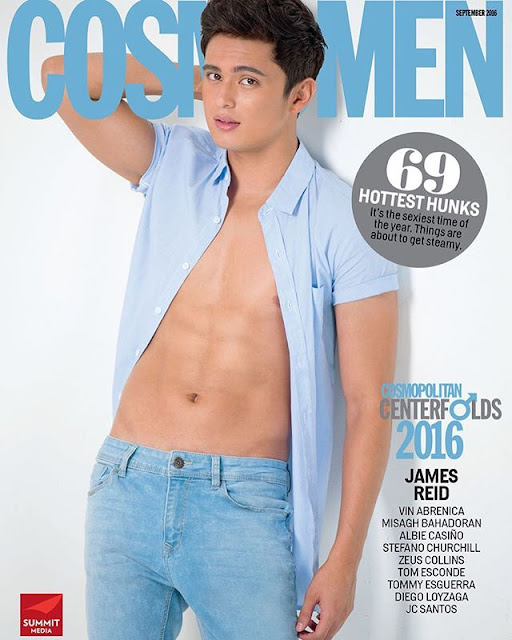 Nadine Lustre back to back with James Reid Cosmopolitan September 2016 Cover