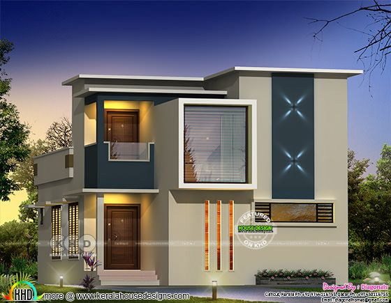 box type modern house rendering