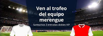 luckia sorteo entradas dobles VIP Real Madrid vs Stade de Reims 12 agosto