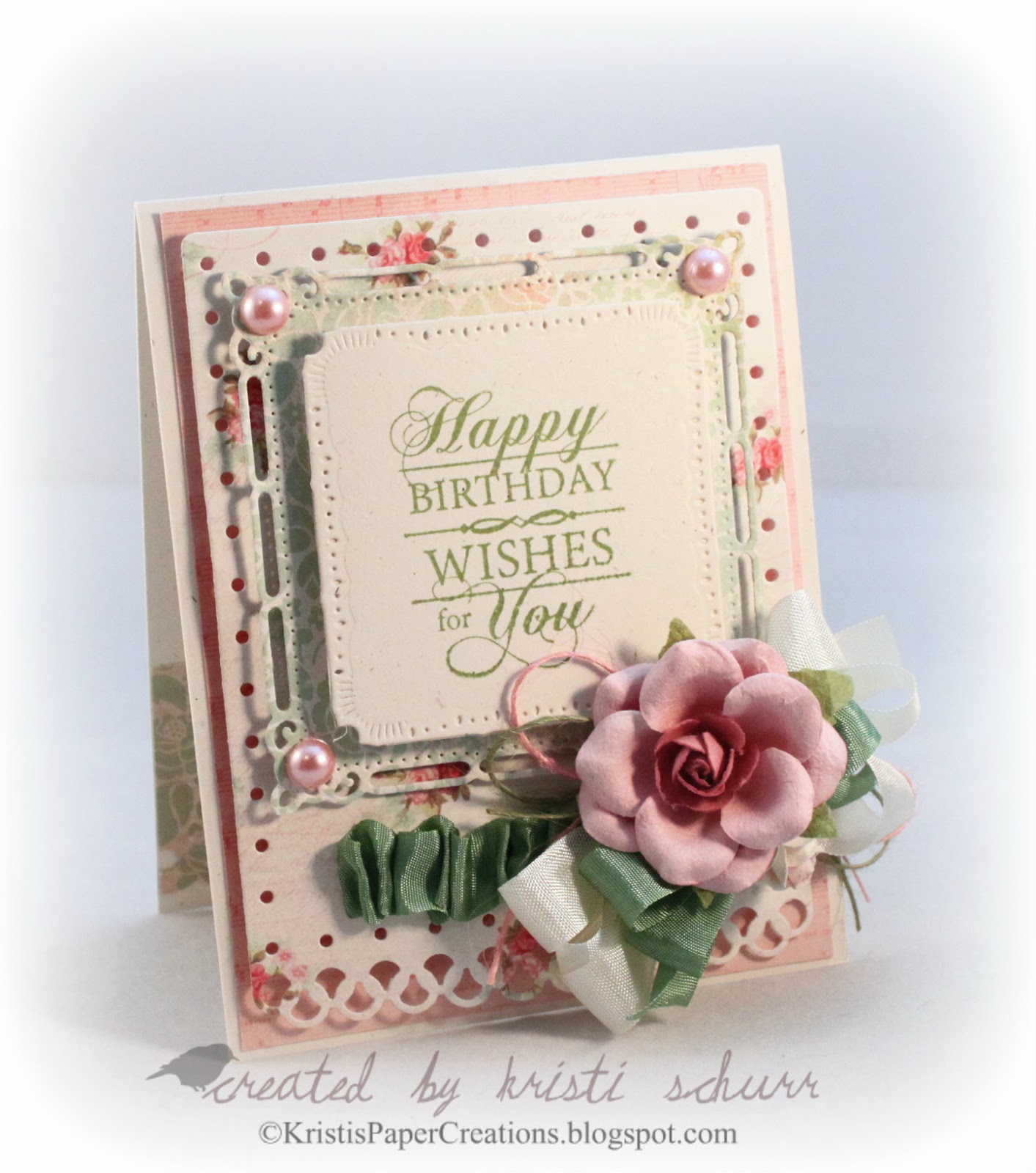 Kristis Paper Creations JustRite Papercraft September Release – Papercraft Birthday Card