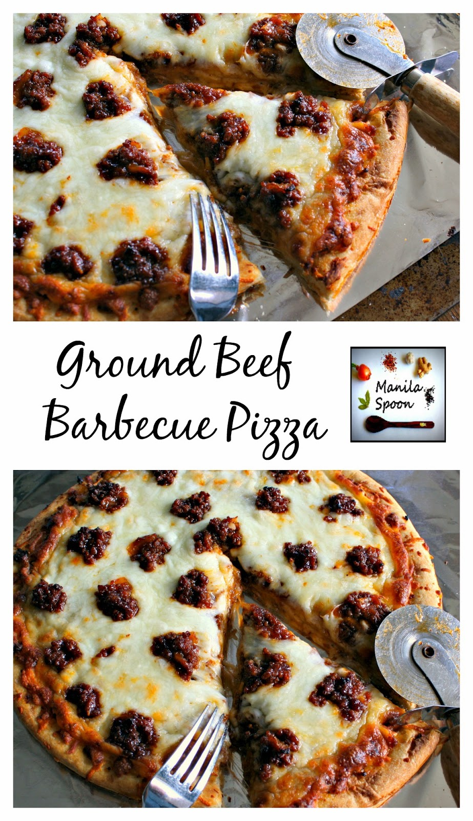 Ground Beef Barbecue Pizza