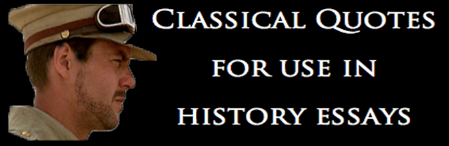 Classical History Quotes