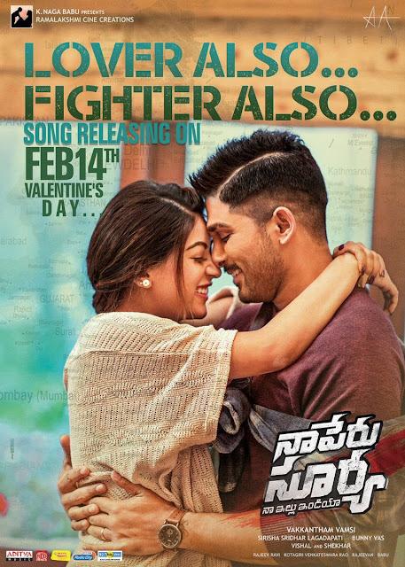 allu arjun naa peru surya naa illu india lovers day poster song