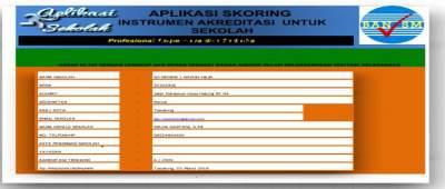 Aplikasi Skoring Akreditasi Sekolah SD/MI Update 2017/2018